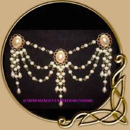 Swags Pearl & Gem Bodice Chain